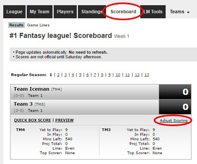 Stat Corrections – ESPN Customer Care