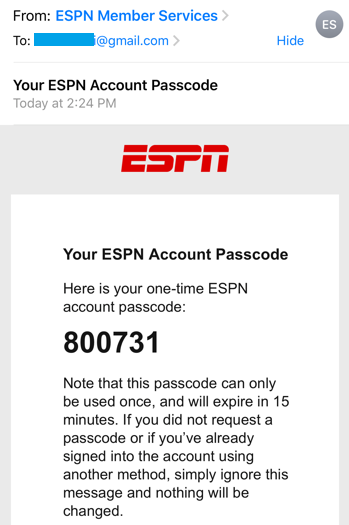 Recovering Login Info And Password On The Espn Fantasy App Espn Fan Support
