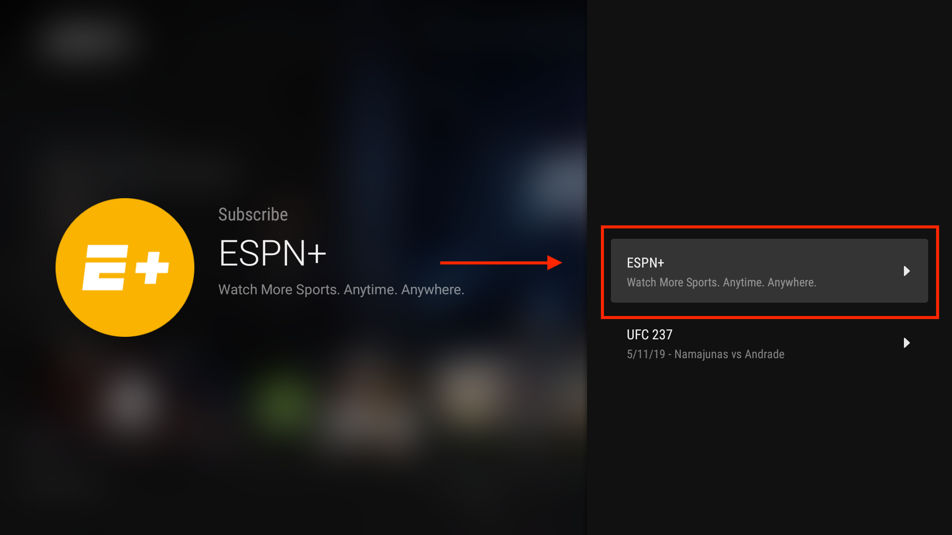 Amazon Fire TV / Android TV: Subscription Linking – ESPN+